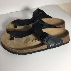 Birkenstock Betula black footbed sandals. Size 9.